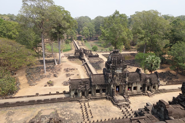 Aerial shot of Siem Reap in amongst the trees