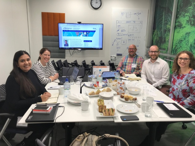 The IVH team sat at a table with the Proagrica team, discussing the new website build