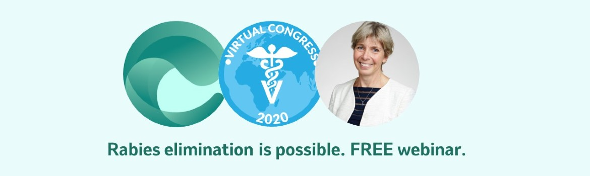 Webinar banner image containing emergence logo, Virtual Congress 2020 logo and headshot of Sarah Cleaveland